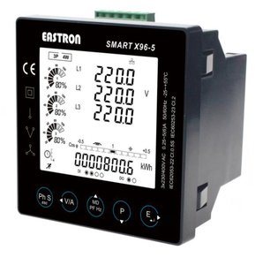 SMART X96-5-G 3 fase kWh energie meter MODBUS -/5A LCD