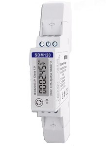 SDM120 modbus 1 fase kWh energie meter 45A LCD MID