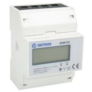 SDM72D 3 fase kWh meter -/5A CT LCD